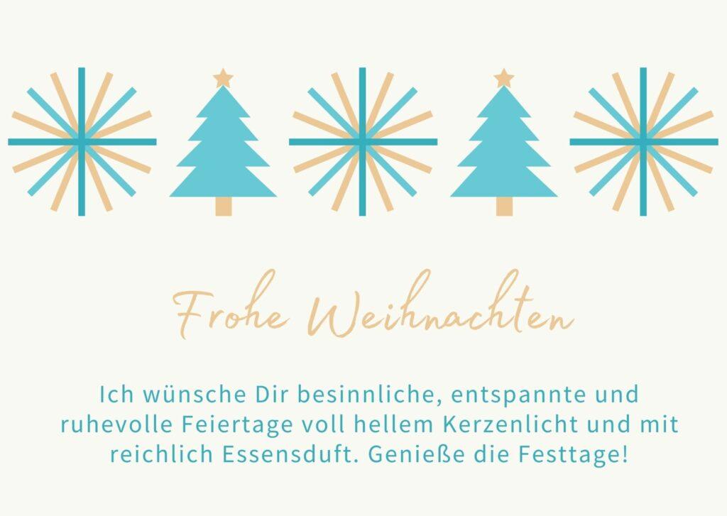 Weihnachtskarte mit Weihnachtsgruß