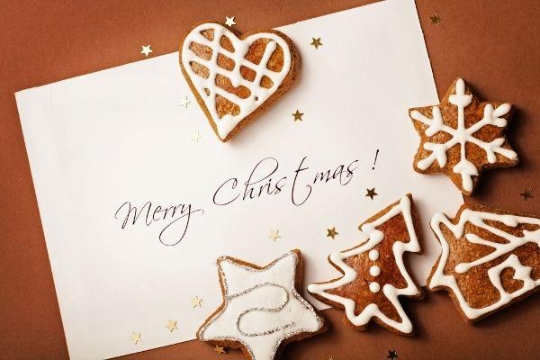 """Weihnachtskarte: Weihnachtsgrüße """"Merry Christmas"""""""