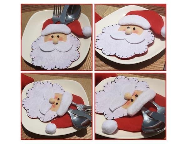 Bestecktaschen Weihnachtsmann