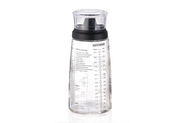 Dressing Shaker in hochwertiger Glasflasche