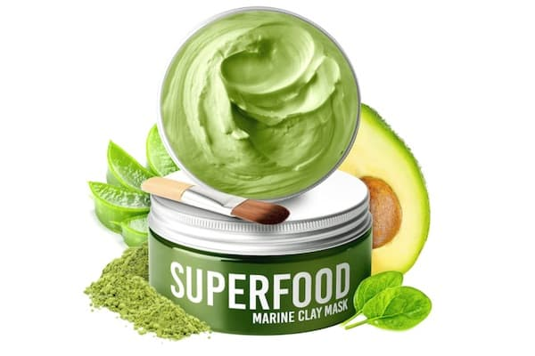 Gesichtsmaske mit Avocado & Superfoods