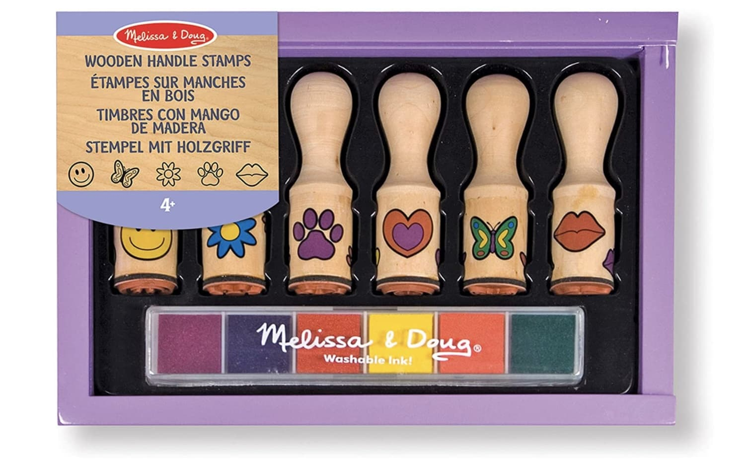 Happy Handles Stempelset aus Holz