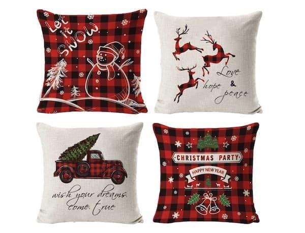 Kissenbezüge mit weihnachtlichen Motiven