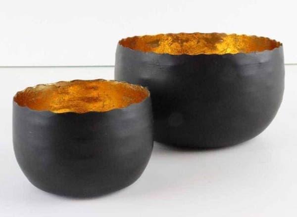 Teelichthalter aus Metall Set