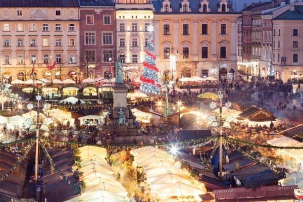 Polnische Weihnachten: Weihnachtsmarkt in Krakau