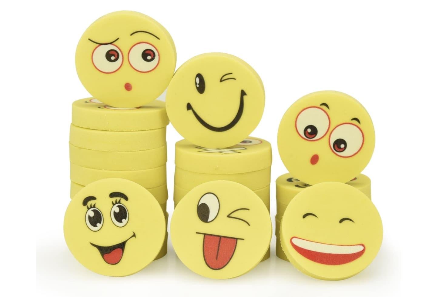 Wichtelgeschenk Kinder Radiergummi Set Emoji
