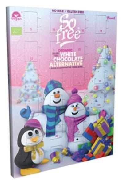 So free Adventskalender mit Weißer Schokolade