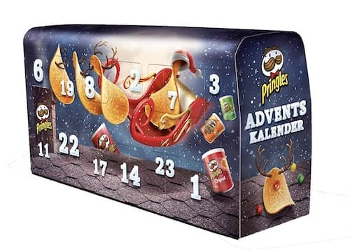 """""""Pringles"""" Chips-Adventskalender Dunkelblau"""