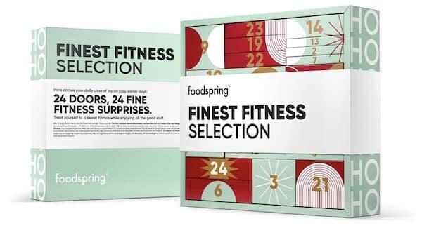 foodspring Adventskalender 2021, Fine Fitness Selection
